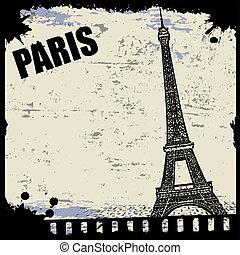 Vintage view of Paris