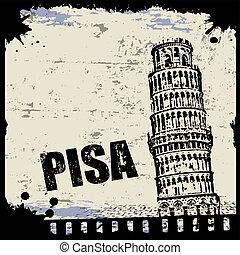 Vintage view of Pisa