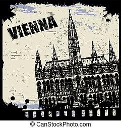 Vintage view of Vienna