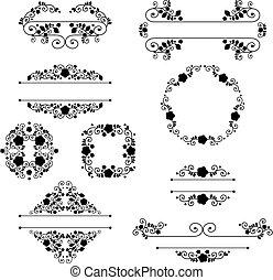 vintage vignette - vector of set of vintage design elements