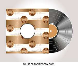 Vintage vinyl disc with cover