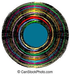 vintage vinyl record, abstract art illustration