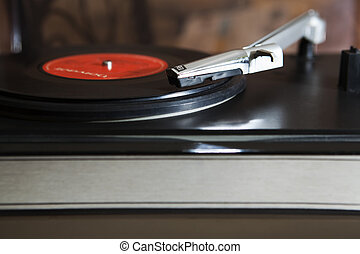 Vintage Vinyl Record Player