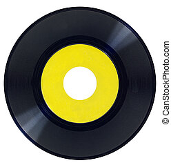 Vintage Vinyl Record - Vintage vinyl record with blank label...