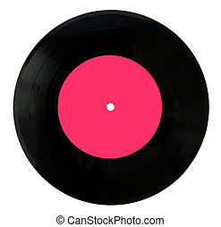 Vintage Vinyl record with realistic hole