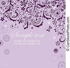 Vintage violet card