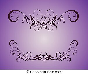 Vintage violet frame