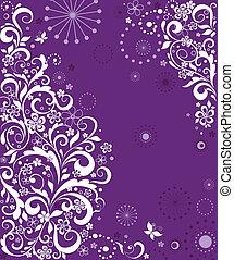 Vintage violet greeting card