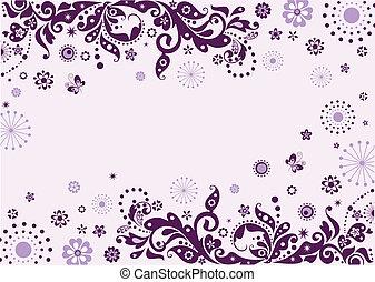 Vintage violet visiting