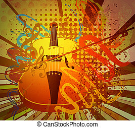 Vintage Violin Music Background