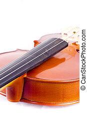 Vintage violin over white background