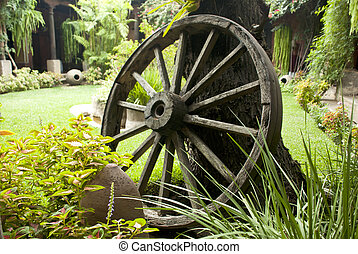 Colonial Time Period - Hand Crafted Wagon Wheel
