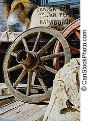 Vintage wagon wheel - HDR