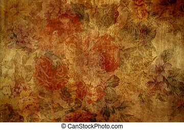 Vintage Wallpaper - Aged, vintage wallpaper for background