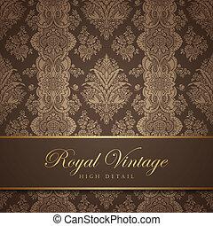 Vintage wallpaper design. Flourish background. Floral...