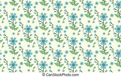 Vintage wallpaper for spring, with beautiful leaf and flower background.