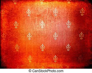 Vintage Wallpaper Red - Red grunge vintage wallpaper texture