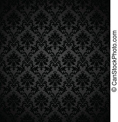 Vintage Wallpaper - Seamless wallpaper pattern. Colors are ...