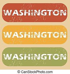 Vintage Washington stamp set
