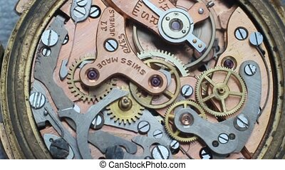 vintage watch inside