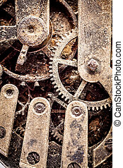 Vintage watch parts - Close up of grungy looking vintage...