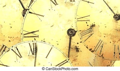 Vintage watch. Rapid movement of time. Time interval. Clock