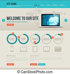 Vintage website template - Vintage design template for...