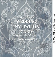 Vintage wedding background baroque ornament Vector. Royal Luxury trendy wallpaper design. Texture, textile, decor, fabric, tile, templates