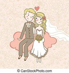 Vintage wedding background.