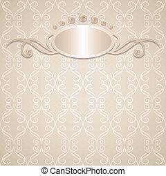 wedding background - vintage wedding background with pearls,...