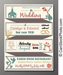 Vintage wedding party invitation ca