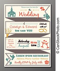 Vintage wedding party invitation ca