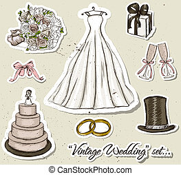 Vintage wedding set.