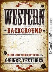 Vintage Western Background
