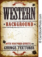 Vintage Western Background