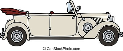 Vintage white cabriolet