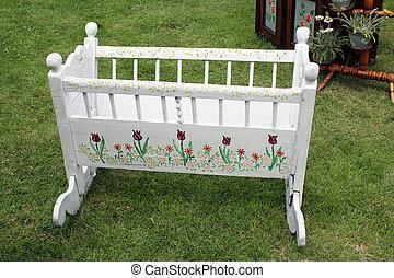 vintage white crib