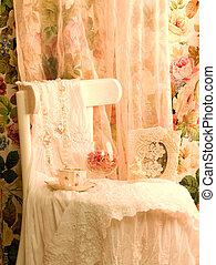 dress, teacup and frame