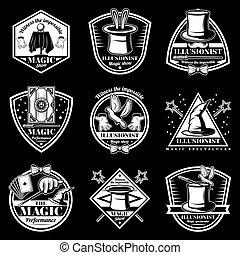 Vintage White Magic Performance Labels Set