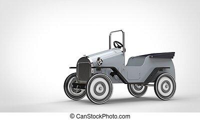 Vintage white toy car