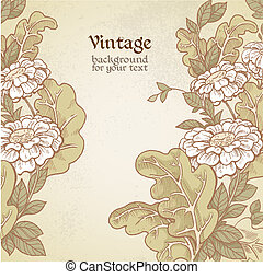 Vintage wild meadow flowers - Vintage color background with...