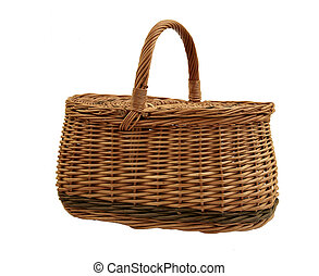 beautiful basket isolated on white
