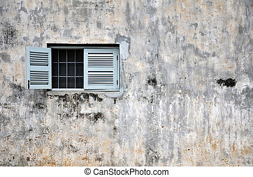 Vintage window on a old building