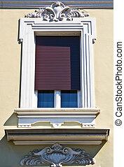 vintage window on beautiful buildin