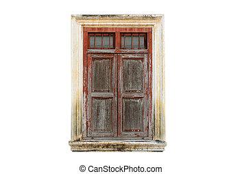 vintage window on isolated background
