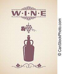 Vintage Wine Label Design Background