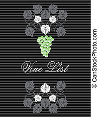 Vintage Winelist Cover design
