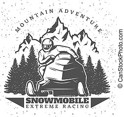 Vintage Winter Extreme Sport Template - Vintage winter ...