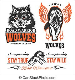 vintage Wolf motorcycle label