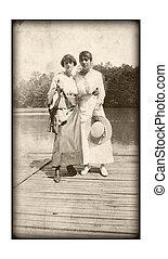 Vintage Women - An original vintage photo of two women...